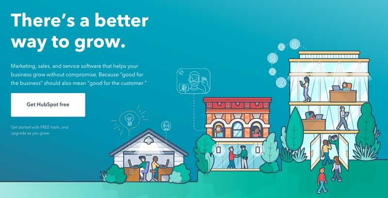 HubSpot home page CTA