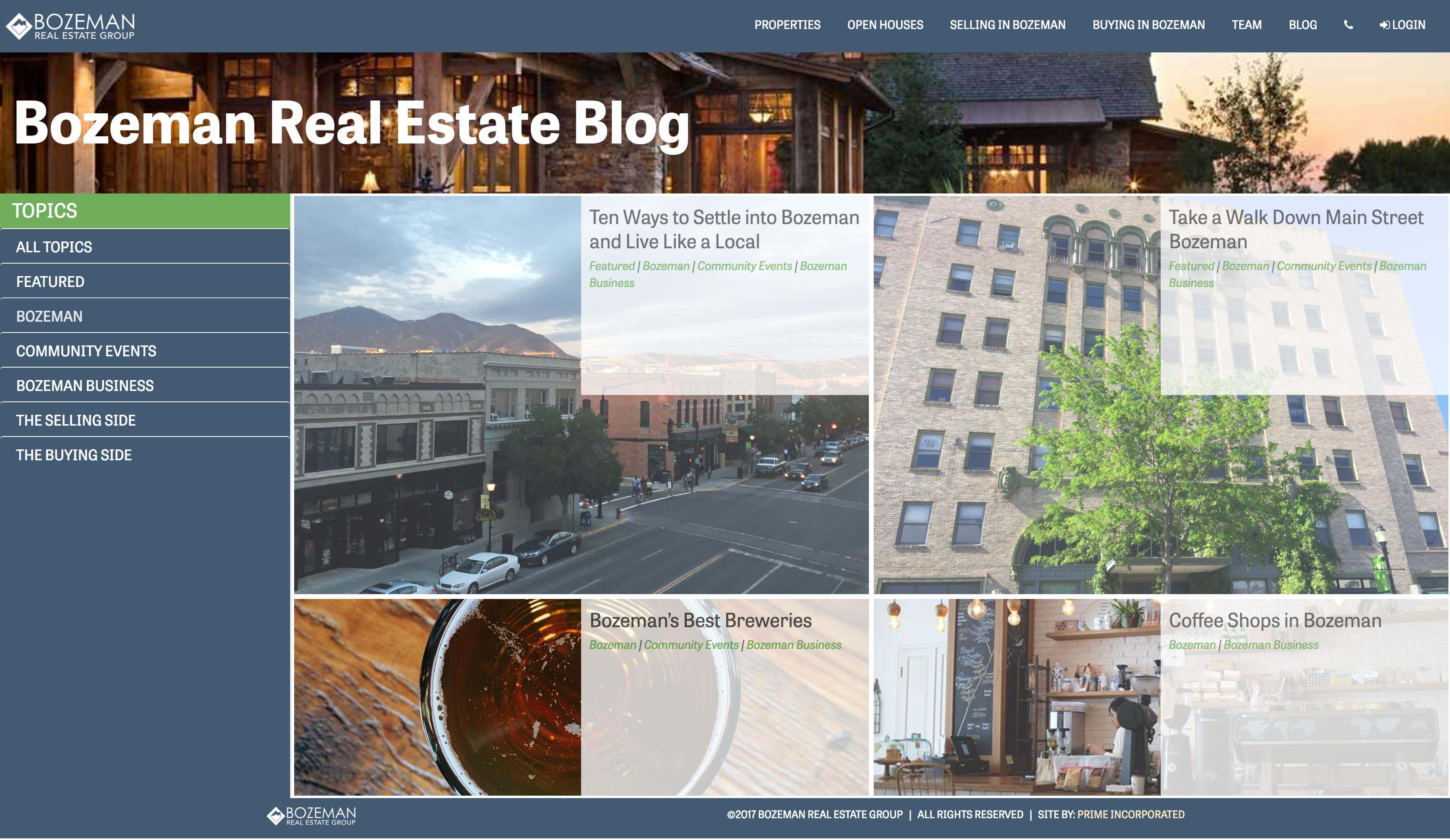 real estate blog design