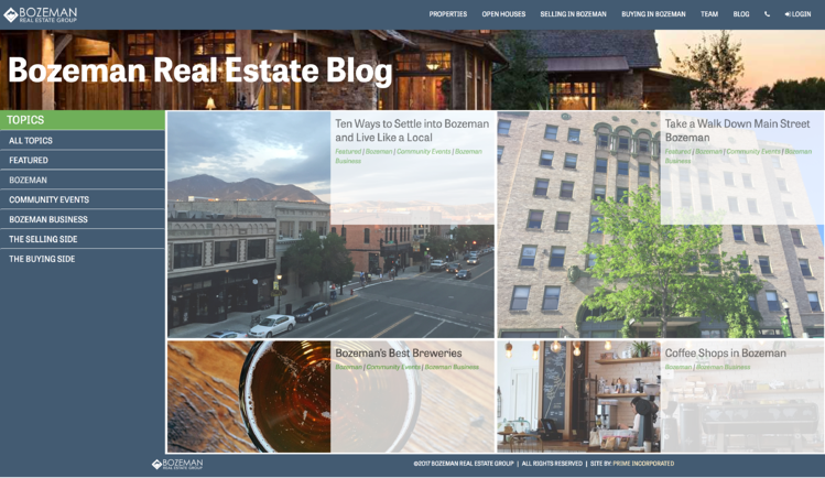 real estate blog design