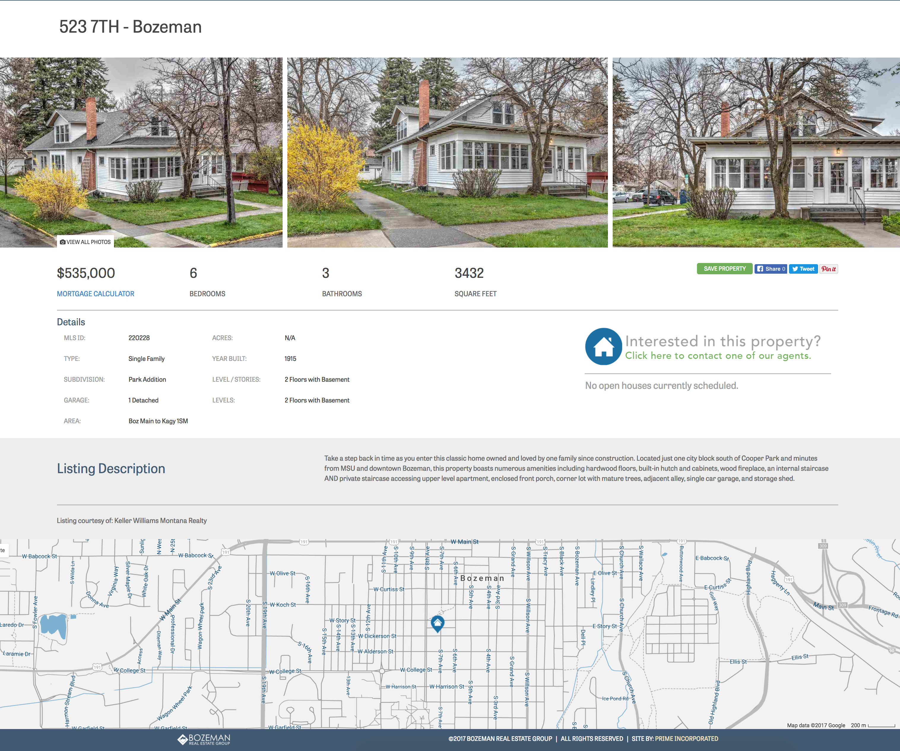 real estate property website interface design