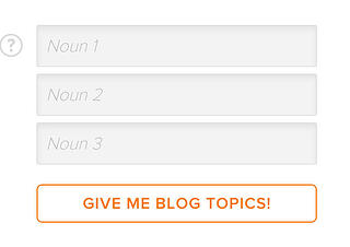 Blog Topic Generator