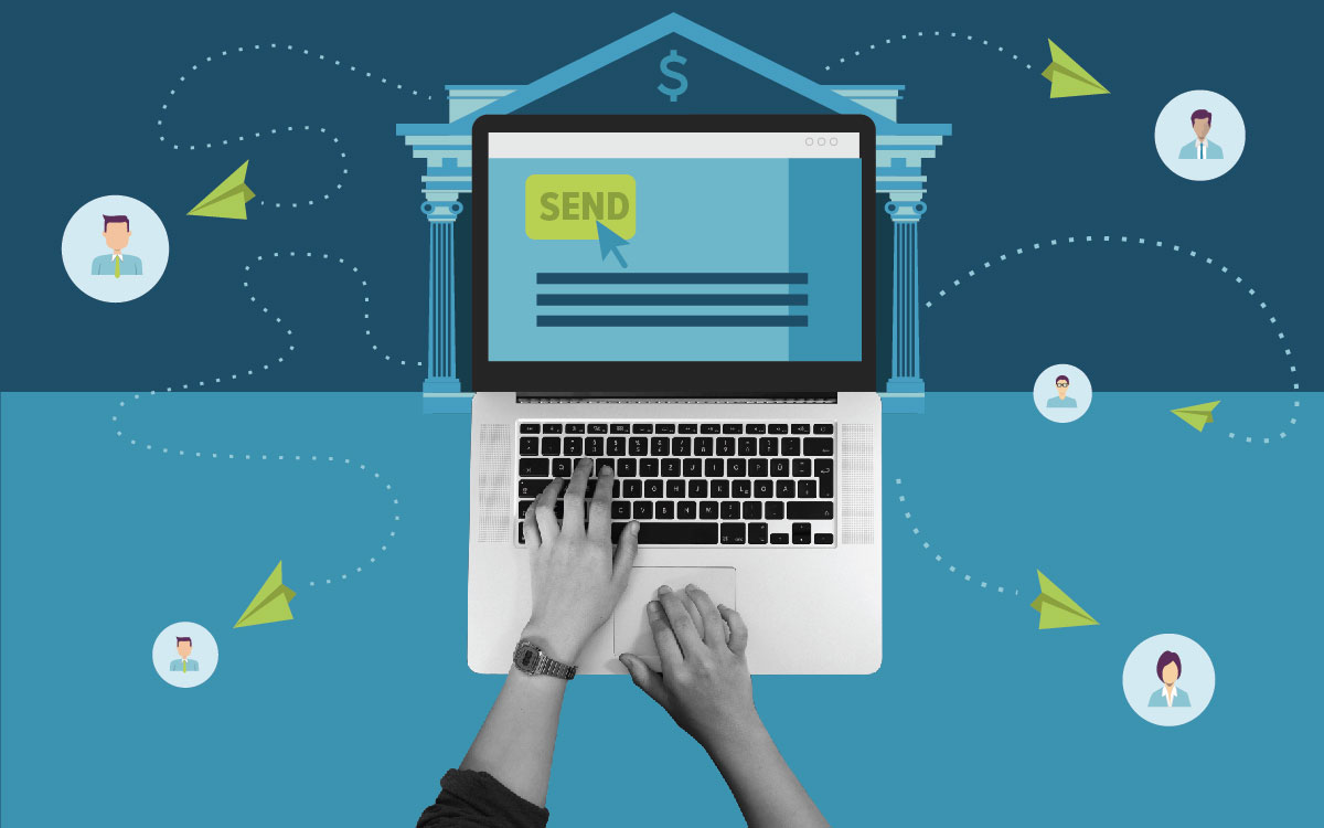 sending an email to members of a credit union