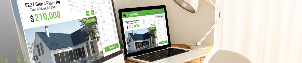 website with real estate listings