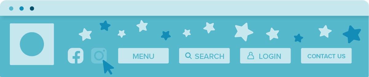 navigation bar on a website
